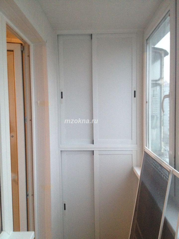 Утепление балкона, монтаж шкафов, обшивка мзск.